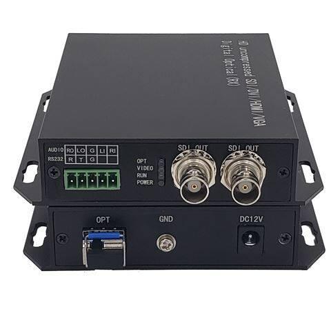 河道高清监控SDI 1路SDI+数据光端机
