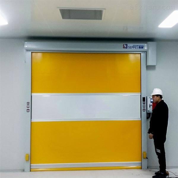 工厂车间与AGV联动的快速卷帘门