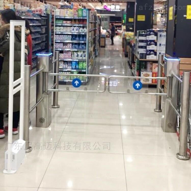 电动超市摆闸门 红外感应圆柱形护栏过道闸