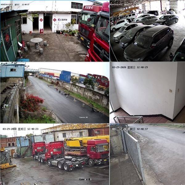 上海货运场大巴停车场监控安装红外手机远程