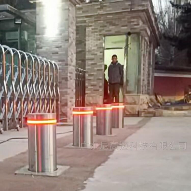 大门地埋升降阻车桩 遥控智能电动伸缩柱