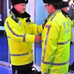 特制加厚交巡警交通路政执勤反光棉服棉衣