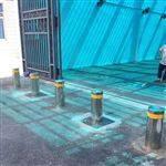NGM监獄门口电动防撞伸缩立柱隔离警示阻车路桩
