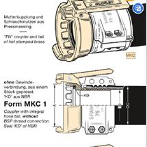 MKC 38 MsELAFLEX TW软管接头MKC